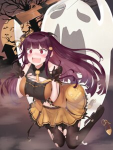 Rating: Safe Score: 38 Tags: cleavage girls_frontline gun halloween mentai_mayo pantyhose torn_clothes wa2000_(girls_frontline) User: Mr_GT