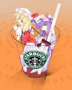 Rating: Safe Score: 17 Tags: flandre_scarlet kurokuro patchouli_knowledge touhou wings User: Mr_GT