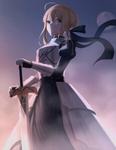 Rating: Safe Score: 10 Tags: armor dress fate/stay_night saber sword xiho_(suna) User: Dreista