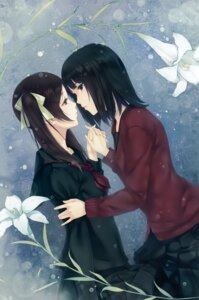 Rating: Safe Score: 31 Tags: kara_no_shoujo_2 seifuku sugina_miki sweater yuri User: Hatsukoi