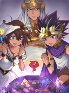 Rating: Safe Score: 6 Tags: atem dress mahado mana_(yugioh) maruchi weapon wet_clothes yugioh User: charunetra