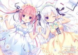 Rating: Safe Score: 80 Tags: canvas+garden cleavage dress licie_(canvas+garden) lira_(canvas+garden) miyasaka_miyu User: Twinsenzw