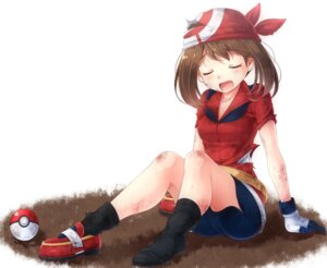 Rating: Safe Score: 40 Tags: bike_shorts haruka_(pokemon) komitsu pokemon torn_clothes User: RaulDJ747