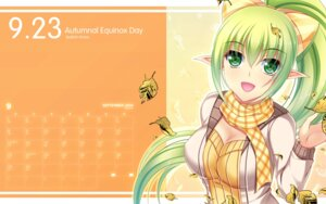 Rating: Questionable Score: 28 Tags: calendar cleavage elf elsword kirara0831 lena_(elsword) pointy_ears wallpaper User: fairyren
