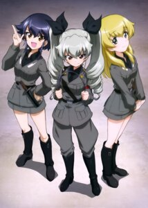 Rating: Safe Score: 23 Tags: anchovy carpaccio girls_und_panzer pepperoni uniform weapon User: drop