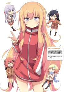 Rating: Safe Score: 55 Tags: angel chisaki_tapris_sugarbell devil gabriel_dropout horns kurumizawa_satanichia_mcdowell pantyhose seifuku shiraha_raphiel_ainsworth sweater tenma_gabriel_white tsukinose_vignette_april ukami wings User: kiyoe
