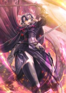 Rating: Safe Score: 31 Tags: armor dress fate/grand_order jeanne_d'arc jeanne_d'arc_(alter)_(fate) kuroi_susumu sword thighhighs User: RyuZU