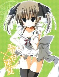 Rating: Safe Score: 39 Tags: inugami_kira seitokai_no_ichizon shiina_minatsu thighhighs User: Anonymous