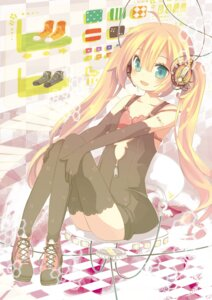 Rating: Safe Score: 16 Tags: aruya bra headphones thighhighs User: charunetra