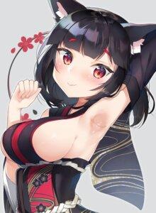 Rating: Safe Score: 59 Tags: animal_ears azur_lane japanese_clothes yamashiro_(azur_lane) yayoichi_(yoruyoru108) User: Mr_GT