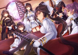Rating: Safe Score: 56 Tags: azur_lane cleavage haruna_(azur_lane) hiei_(azur_lane) horns izumo_(azur_lane) maya_(azur_lane) mikasa_(azur_lane) pantyhose pointy_ears sagaradai seifuku sword takao_(azur_lane) uniform User: Nepcoheart