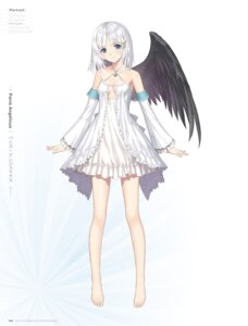 Rating: Safe Score: 55 Tags: cleavage digital_version dress feet no_bra panis_angelicus tony_taka wings User: Twinsenzw