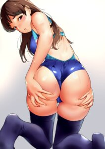 Rating: Questionable Score: 89 Tags: ass ass_grab feet jorori nitta_minami swimsuits the_idolm@ster the_idolm@ster_cinderella_girls thighhighs User: nphuongsun93
