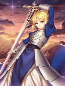 Rating: Safe Score: 35 Tags: armor dress fate/stay_night saber sword yezhi_na User: mash