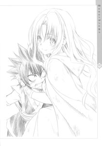 Rating: Safe Score: 30 Tags: gid_lucion_deviluke monochrome sephie_michaela_deviluke sketch to_love_ru to_love_ru_darkness yabuki_kentarou User: Twinsenzw