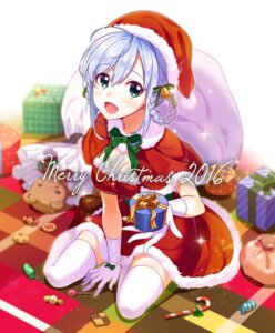 Rating: Safe Score: 45 Tags: christmas cleavage dress shiitake thighhighs User: Mr_GT