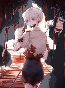 Rating: Questionable Score: 15 Tags: bandages bandaid bbeedol blood dress_shirt User: Dreista