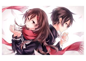 Rating: Safe Score: 30 Tags: kagerou_project kisaragi_shintarou kuon_(im5347270) seifuku tateyama_ayano User: mash