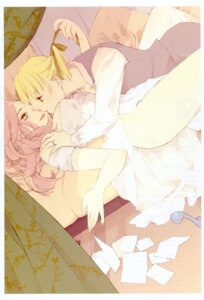 Rating: Questionable Score: 10 Tags: bleed_through dress nopan tagme yuri User: fireattack
