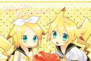 Rating: Safe Score: 26 Tags: animal_ears kagamine_len kagamine_rin ku pikachu tail vocaloid User: fairyren