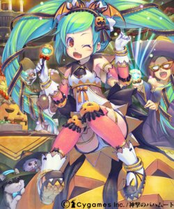 Rating: Safe Score: 24 Tags: halloween piro_(artist) thighhighs User: blooregardo