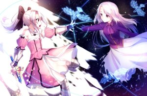 Rating: Safe Score: 39 Tags: armor cosplay dress fate/kaleid_liner_prisma_illya fate/stay_night illyasviel_von_einzbern saber saber_lily sword torn_clothes yan_(nicknikg) User: Mr_GT