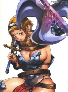 Rating: Questionable Score: 11 Tags: armor cleavage cosplay f.s leina melona pantsu queen's_blade sword thighhighs User: HSkeleton