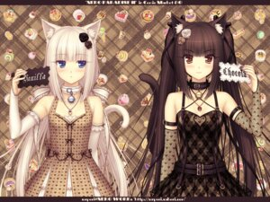 Rating: Safe Score: 192 Tags: animal_ears chocola dress gothic_lolita lolita_fashion neko_works nekomimi sayori tail vanilla wallpaper User: GeniusMerielle