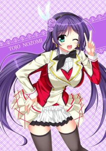 Rating: Safe Score: 33 Tags: endori love_live! thighhighs toujou_nozomi User: 椎名深夏