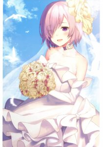 Rating: Safe Score: 47 Tags: dress fate/grand_order haru. mash_kyrielight wedding_dress User: kiyoe