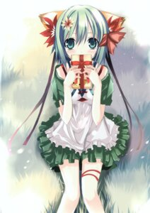 Rating: Safe Score: 30 Tags: animal_ears dress greenwood midori nekomimi shino_(eefy) User: midzki