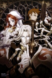 Rating: Safe Score: 7 Tags: abel_nightroad armor dress esther_blanchett gun megane nakajima_atsuko nun tres_iqus trinity_blood User: Radioactive