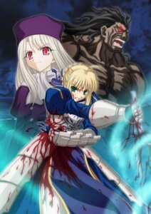Rating: Safe Score: 10 Tags: berserker fate/stay_night illyasviel_von_einzbern saber type-moon User: Velen