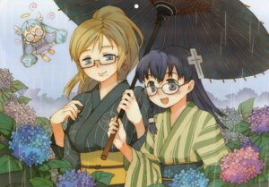 Rating: Safe Score: 5 Tags: abe_maria doki_doki_majo_shinpan kimono lulu_(doki_doki_majo_shinpan) megane seiya_eve User: vita