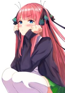 Rating: Safe Score: 9 Tags: 5-toubun_no_hanayome lion_suko nakano_nino seifuku sweater thighhighs User: yanis
