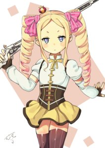 Rating: Safe Score: 44 Tags: beatrice_(re_zero) cosplay gun puella_magi_madoka_magica re_zero_kara_hajimeru_isekai_seikatsu thighhighs tomoe_mami User: hrbzz