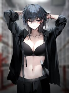Rating: Questionable Score: 26 Tags: bara_(03_bara_) bra business_suit cleavage open_shirt sword User: Dreista