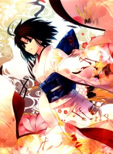 Rating: Safe Score: 31 Tags: kara_no_kyoukai kimono ryougi_shiki takeuchi_takashi type-moon User: fireattack