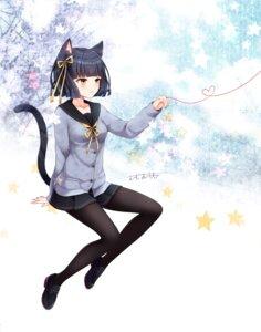 Rating: Safe Score: 17 Tags: animal_ears heels nekomimi omoomomo seifuku sweater tail User: Mr_GT