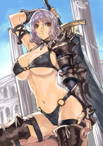 Rating: Questionable Score: 50 Tags: armor bikini cleavage erect_nipples ranou swimsuits sword underboob User: blooregardo