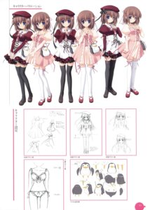 Rating: Safe Score: 9 Tags: 11eyes character_design chikotam minase_yuka seifuku thighhighs User: crim