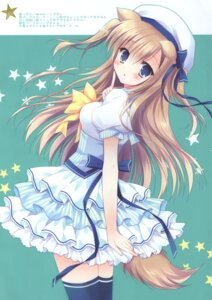 Rating: Questionable Score: 19 Tags: animal_ears cascade hasekura_chiaki tagme tail thighhighs User: Radioactive