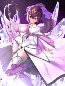 Rating: Safe Score: 30 Tags: dress fate/grand_order scathach_skadi thighhighs untsue weapon User: Mr_GT