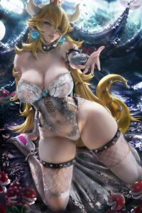Rating: Questionable Score: 133 Tags: bowsette fishnets heels horns leotard new_super_mario_bros._u_deluxe no_bra pointy_ears sakimichan see_through tail thighhighs User: BattlequeenYume