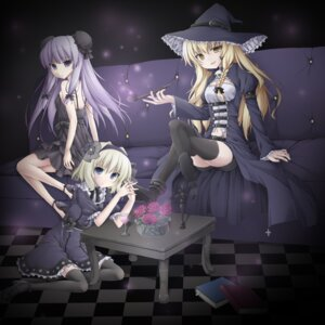 Rating: Safe Score: 25 Tags: alice_margatroid kirisame_marisa miyupon patchouli_knowledge thighhighs touhou witch User: tbchyu001