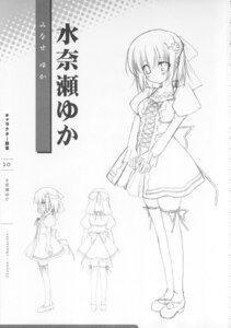Rating: Safe Score: 8 Tags: 11eyes character_design lass minase_yuka monochrome seifuku sketch thighhighs User: admin2