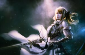 Rating: Safe Score: 19 Tags: armor bita_(vaderc) fate/stay_night saber saber_lily sword User: mash