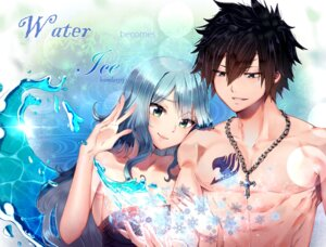 Rating: Safe Score: 13 Tags: cleavage fairy_tail gray_fullbuster juvia_loxar ksmile1313 tattoo User: charunetra