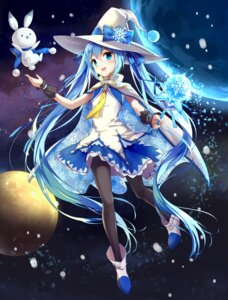 Rating: Safe Score: 98 Tags: dress drogoth hatsune_miku pantyhose vocaloid weapon witch yuki_miku User: KazukiNanako
