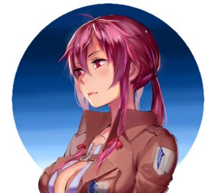 Rating: Safe Score: 36 Tags: cleavage cosplay gasai_yuno mirai_nikki pauld shingeki_no_kyojin uniform User: mash